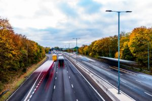 68969987 - autumn background of uk motorway road